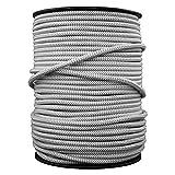 smartect Cable para lámparas de tela en color Gris-Blanco - Cable textil trenzado de 5 Metro - 3 hilos (3 x 0,75 mm²) - Cable de luz con revestimiento textil