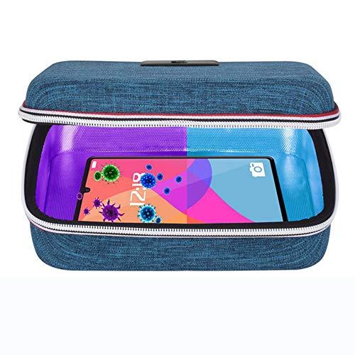 Sterizzatore UV Sterilizzatore UVC Sanitizer Sterilizer Sterilizzazione Lampada Germicida Portatile 99% Ultravioletto Lamp Sanificazione Disinfezione USB Sanificatore Borsa Box per Phone Telefono