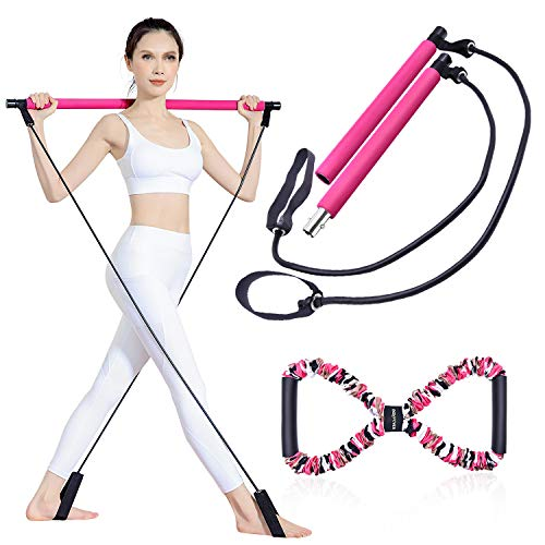 BQYPOWER Pilates Bar Kit with Re...