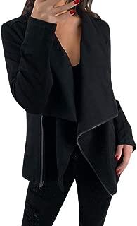 Casual Biker Jacket Women Zipper Jacket Long Sleeve Cardigan Casual Blazer Jacket Work Office Coat Top Jackets