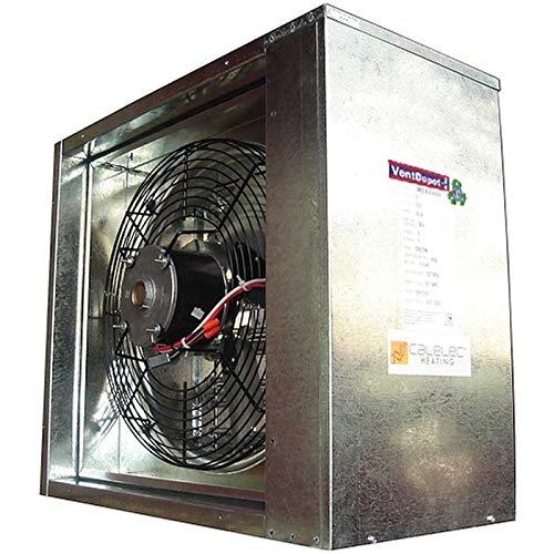 Calefactor para Invernadero, BoxHeat, MXHEA-001, 3840m3/hr, 15Kw, 230V/3F/60Hz, 1/8HP, 1Etapa, 80m2