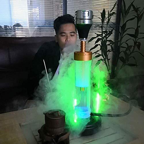 YUJIAN Iluminación eléctrica Shisha Pot Aluminio Shisha, un láser LED Shisha, Adecuado para familias Bares Clubes Hoteles de Lujo y Otros Lugares