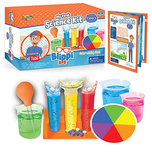Blippi My First Science: Science Kit with Color Experiments - Educational Science Lab Toys for Kids with Primary and Secondary Colors - Mind Blowing Toddler Art Experiment Chemistry Set Age 3+