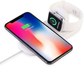 ATETION Wireless Charger for Apple Watch, 2-in-1 Charging Pad Stand Compatible for with for iPhone 11/Pro/Pro Max/XR/XS/XS Max/X/8/8 Plus/Series 5/4/3/2/1
