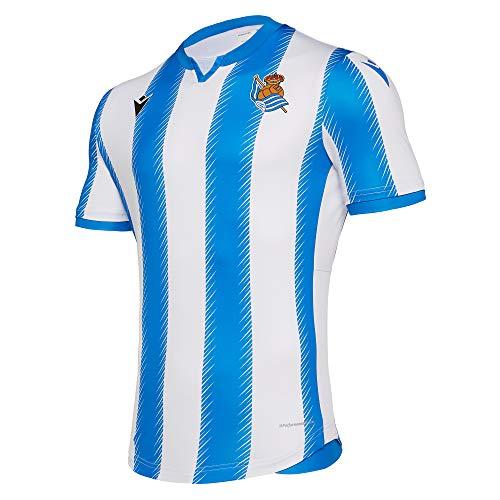 Macron Real Sociedad Primera Equipación 2019-2020, Camiseta, Blue, Talla L