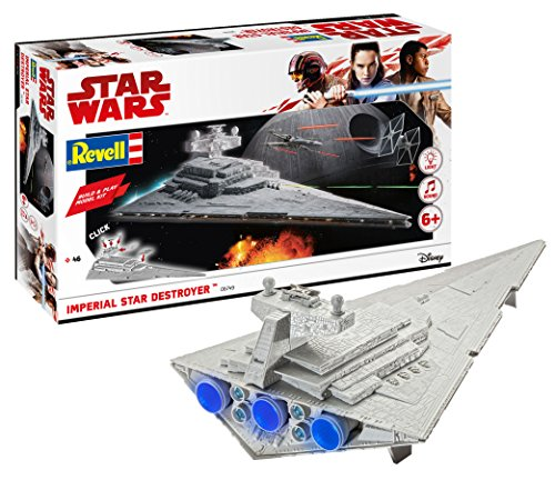 Revell - Maqueta Star Wars: Imperial Star Destroyes, Build & Play, Kit Modello,Escala 1:4000 (6749) (06749)