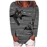 Covermason Plus Size Women Long Sleeve 3D Animal Printed O-Neck Tops tee T-Shirt Blouse Blus Camiseta con Redondo y Estampado de en de Manga Corta para Mujer Linda Camiseta de Estilo de Moda