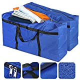 ESSORT 2 PCS Moving Storage Bags 600D Oxford Fabric Christmas Tree Storage Bag with Reinforced Handles, Waterproof Under Bed Organizer Duffel Bag for Traveling, College Carrying, Moving, Camping