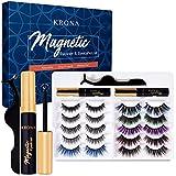 KRONA Magnetic Eyelashes With Eyeliner Kit - 2 Tubes Of Magnetic Eyeliner & 10...