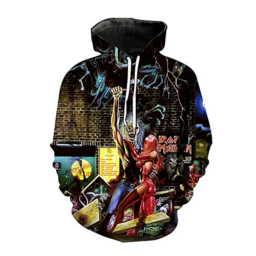 Sudaderas con Capucha con Estampado De Calavera En 3D para Hombres Y Mujeres Sudadera con Capucha De Moda Hip Hop Streetwear Pullover Tops Masculinos-Ahad0071A_L