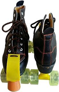 ローラーブレード, 複列スケート、 大人の子供の屋内と屋外のスケート靴 古典的なハイトップ四輪ローラースケート 黒,ホイールが点滅しない (Color : Black, Size : 35)