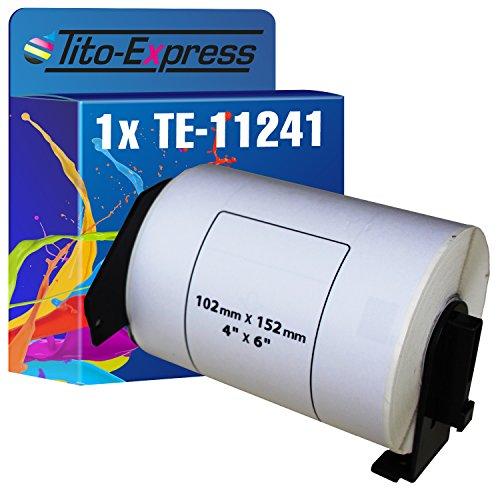 Tito-Express Platinum Serie 1x Rollo de etiquetas compatibles con Brother P-Touch DK-11241 102mm x 152mm 200 Etiquetas QL1050 QL1050 N QL1060 N QL1110 QL1100 NWB QL1060 NX QL1100 QL1110 NWB