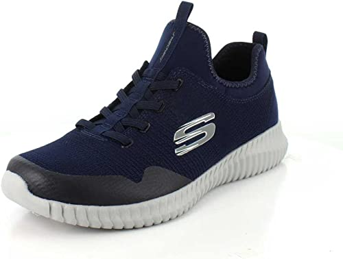 Skechers Mens Foreflex Leather Mesh Air Cooled Casual Trainers zapatos