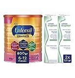 Enfamil Complete 2 Leche Infantil de Continuacion para Lactantes Bebés de 6 a 12 Meses - 800 gr +...