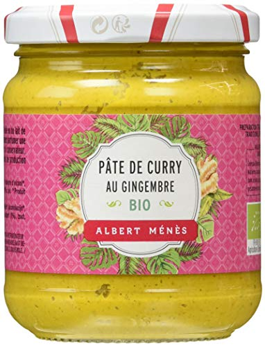 ALBERT MENES AM - Les Condiments - Pâte de Curry au Gingembre - 210 g - Lot de 6