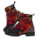 AOSPHIRAYLIAN Botas de nieve para mujer, sin cordones con forro de piel, sandalias planas cálidas al tobillo botas de invierno mocasines, (rojo,), 36 EU