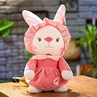 MANGMOC 25Cm/34Cm Beautiful Sweet Couple Rabbit Plush Toy Soft Cartoon Animal Dressed Stuffed Doll Appease Toy Birthday Gift U Must Have The Favourite Toys Superhero Party Decorations