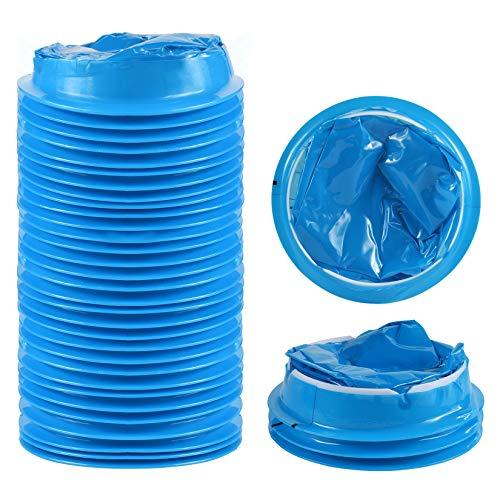 25 pezzi monouso Vomit Bags, sacchetti vomito,cinetosi nausea vomito borsa,Bustine monouso per vomito,Blue Emesis Bags, aereo e auto malattia nausea bag, borse per viaggi Cinetosi Barf bag