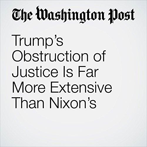 Trump's Obstruction of Justice Is Far More Extensive Than Nixon's copertina