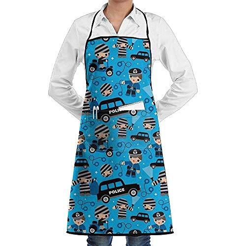 Pag Crane Dieb-Pfeiler und Räuber-Polizei-Unisexküchen-Schutzbleche Kochs-Schutzblech-Grill-Schutzbleche