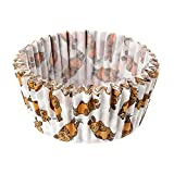 Dr. Oetker Papier-Backförmchen'Maus' Ø 5 cm Sendung mit der Maus, beschichtete Backförmchen, Muffinformen mit Maus-Desing, leicht ablösbar (Farbe: Weiß, Orange, Braun) Menge: 1 x 50 Stück