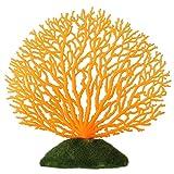 Sollmey Adorno de Plantas de Coral Artificial de plástico de Coral Artificial decoración de Acuario de pecera submarina(Naranja)