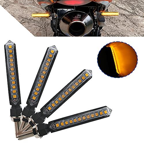 Luces LED de intermitentes para motocicleta, impermeables, con luces traseras traseras y traseras. Luces de freno indicadoras diurnas