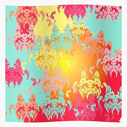 Abstract Pattern Red Elegant Stylish Green Chic Romantic Modern Impresionantes carteles para la decoración de la habitación impresos con la última tecnología moderna sobre papel semibrillante