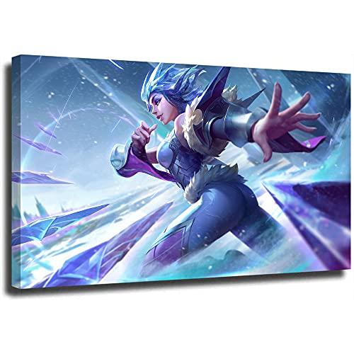 STTYE Póster artístico de la Liga Legends de 30,5 x 45,7 cm irelia Frostblade, cuadro decorativo para sala de estar, enmarcado/listo para colgar