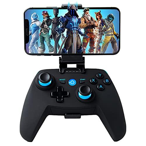 Controller Wireless per Android/PC/PS3/TV, GXGPOW Bluetooth Android Mobile di Gioco Controller con Staffa Retrattile, 2.4G Wireless PC/PS3/TV Controller Gamepad con Doppia Vibrazione