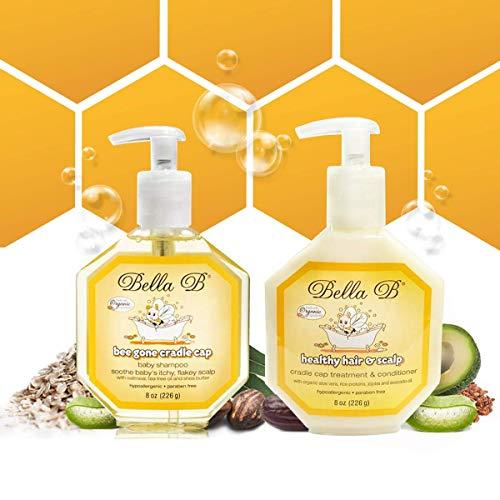 BELLA B Cradle Cap Shampoo & Cradle Cap Scalp Treatment And Conditioner - Baby Shampoo And Conditioner - Cradle Cap Shampoo For Babies - Kid Shampoo - Dry Scalp Shampoo And Conditioner For Dry Scalp