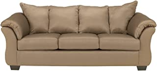 Ashley Furniture Signature Design - Darcy Contemporary Microfiber Sofa - Mocha