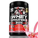 Six Star Elite Series 100% Whey Protein Powder Plus Muscle Builder, 907g Ultra-Pure Whey Protein Powder, Strawberry, 2 Pound