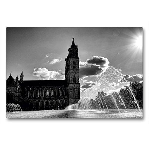 Premium Textil-Leinwand 90 x 60 cm Quer-Format Domplatz | Wandbild, HD-Bild auf Keilrahmen, Fertigbild auf hochwertigem Vlies, Leinwanddruck von Beate Bussenius