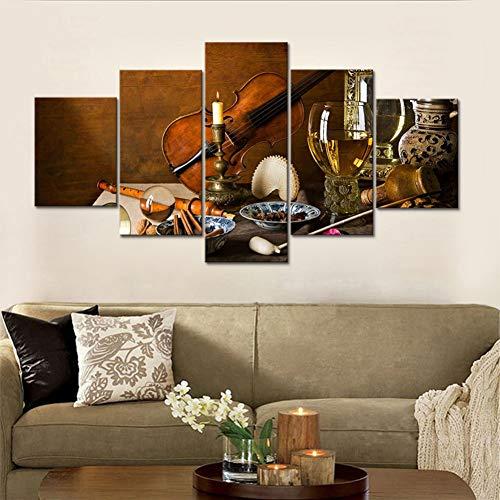 GHTAWXJ Quadri modulari su Tela Natura Morta Famose opere Stampa Decorazione Home Soggiorno Poster Pittura Immagini
