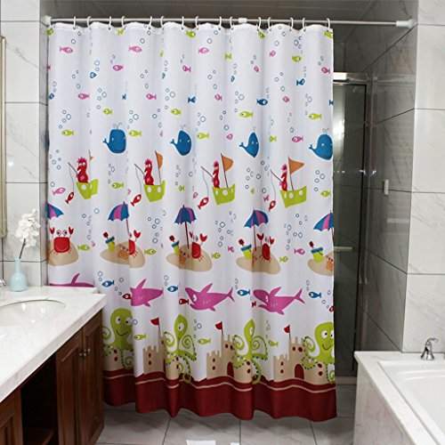 Les rideaux en polyester de modèle de bande dessinée simple imperméabilisent la salle de bains rideaux imperméables de coupe de Mildewproof ( taille : 150*200cm )