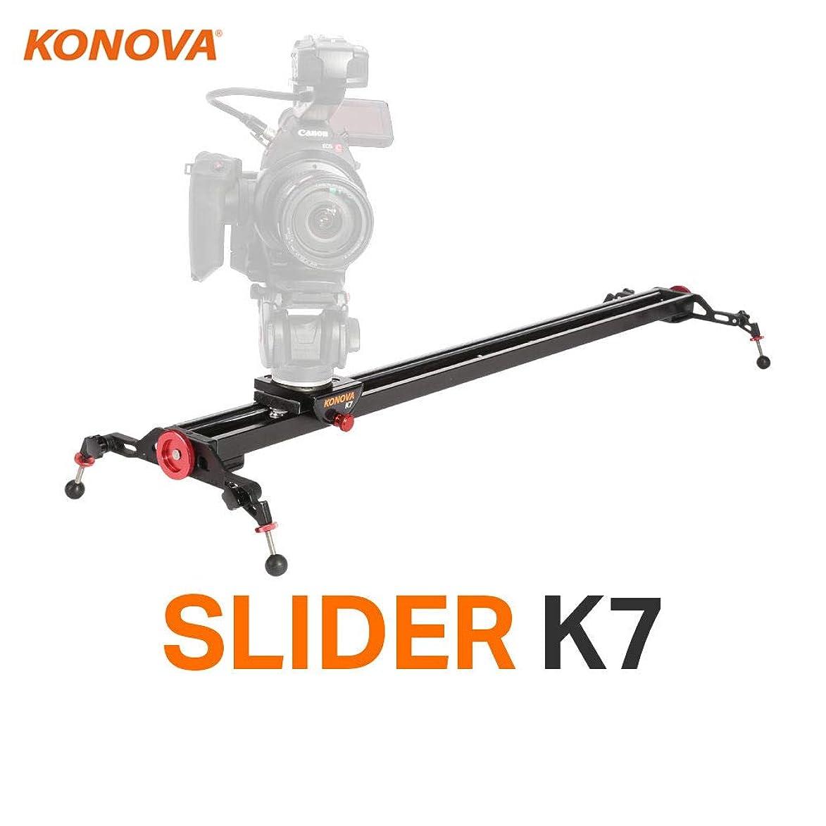 Konova Camera Slider Dolly K7 120cm (47.2 Inch) Track Aluminum solid rail roller bearing for smooth slide for Camera, Gopro, Mobile Phone, DSLR, ENG Payloads up to 77bs (35kg) with Bag
