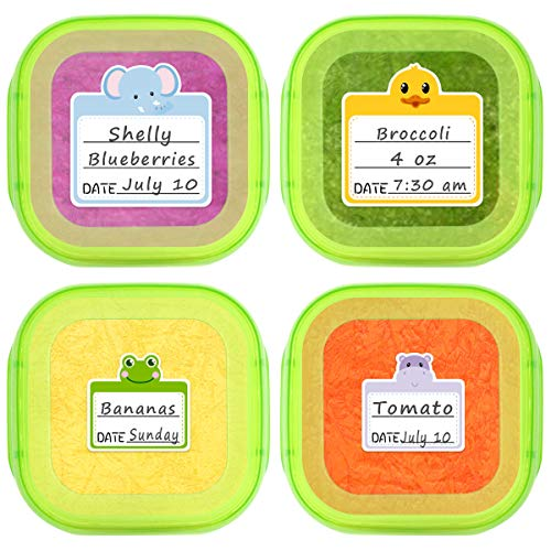 Food Containers Stickers Daycare Labels Removable Waterproof Labels for Kitchen Kids Bottle 108Pcs