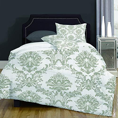 not Bettbezug,Brown Damask Design Pattern Modern Rococo Baroque Beautiful Burlap Canvas,Bettwäsche Set Weich Atmungsaktiv Microfaser Betten Set,Mann Damen