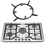 Reyhoar Wok Support Ring, Durable Burner Grate, Pan Holder, Stove Stand Rack - Fit for Frigidaire, Samsung Most Brand Gas Stove Range Cooktop, 6.7 Inch, Cast Iron, Black