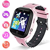 Smart Watch for Kids - Kids Smartwatch Boys Girls with Two Way Calls,SOS,7 Games,Camera,Alarm Clock,Music Player,Calculator,HD Touchscreen Kids Watches for Boys Girls Children 4-12 (Pink)