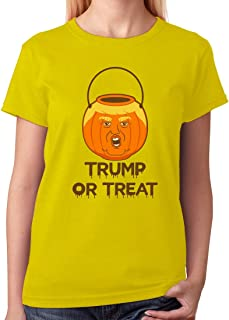 Tstars - Trump Or Treat Donald Trump Pumpkin Halloween Trumpkin Women T-Shirt
