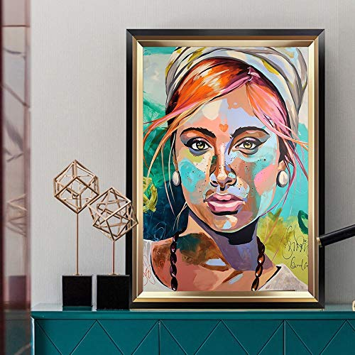 KWzEQ Oil painting canvas print painting abstract figures modern art hand-painted oil painting home decoration 30X40cmFrameless painting
