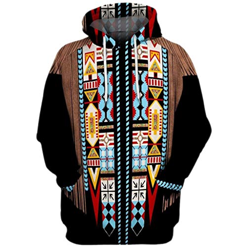 Check Out This Elogoog New 3D Black Indian Hoodie for Men and Women Pullover Long Sleeve Hoodie