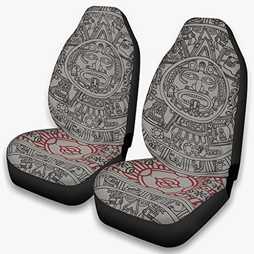 Fundas de asiento para coches antiguos Incan Accesorios de vehículos para automóviles Silla trasera delantera automotriz - Cubierta de asiento delantero 4 estaciones universal blanco onesize