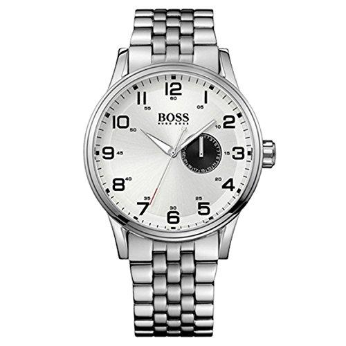Hugo Boss 1512791 - Reloj analógico de Cuarzo para Hombre con Correa de Acero Inoxidable, Color Plateado