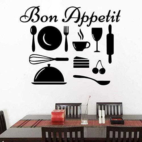 Varios utensilios de cocina pegatinas de pared de cocina se pueden separar calcomanías de pared de vinilo decoración del hogar sala de estar dormitorio arte mural 58X73Cm