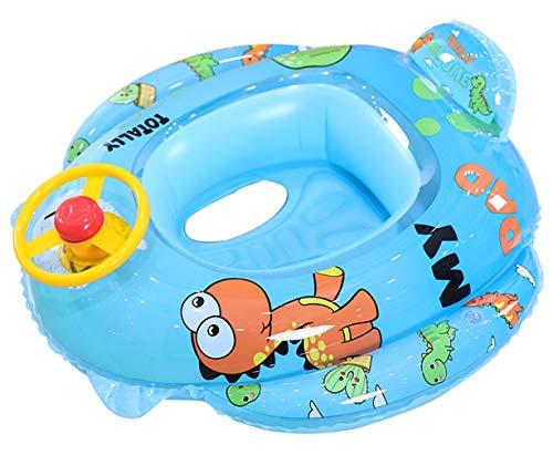 Lukis - Flotador de baño para bebé hinchable para bebé de 2 a 10 años (Dinosaurio)