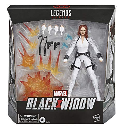 Marvel Hasbro Black Widow Legends Series 6-Inch Collectible Black Widow Action Figure Toy, Includes 12 Accessories, Ages 4 and Up