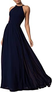 Womens Sleeveless Party Wedding Dresses Evening Cocktail Prom Gown Summer Chiffon Maxi Dress